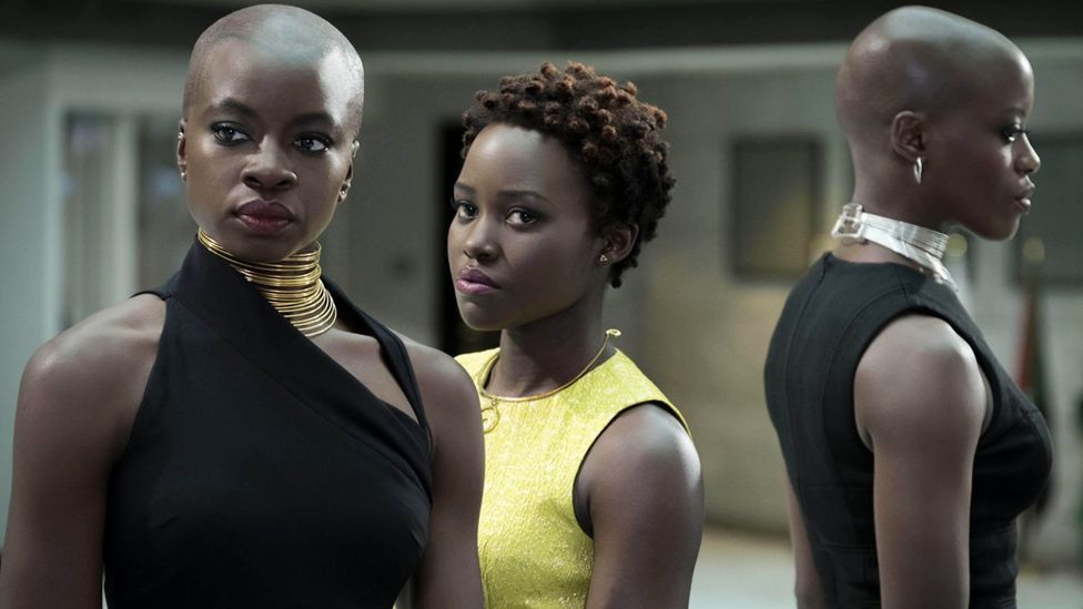 The costume design for the futuristic film Black Panther was widely acclaimed, and won the 2019 Oscar (Credit: Alamy)