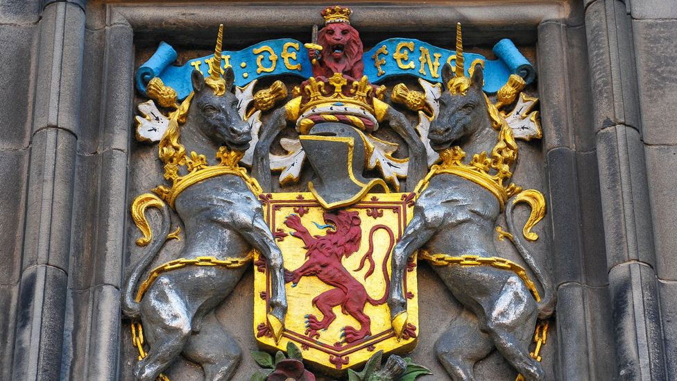 Before the Union of the Crowns in 1603, Scotland's Royal Coat of Arms was supported by two unicorns (Credit: Lucian Milasan/Alamy)