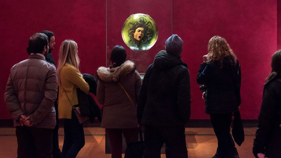 One visitor to Florence's Uffizi Gallery fainted by Caravaggio's Medusa (Credit: Alamy)