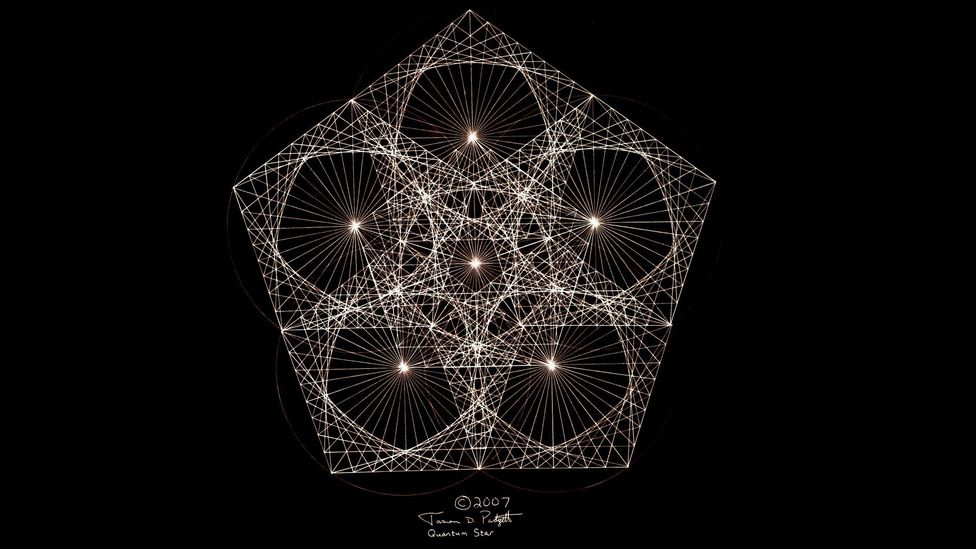 Since the attack Padgett has been able to draw repeating geometric patterns known as fractals by hand (Credit: Jason Padgett)