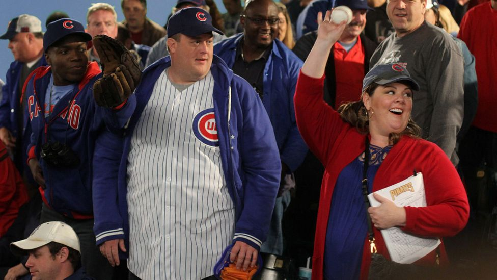 Melissa McCarthy opposite her co-star Billy Gardell in her long-running sitcom Mike and Molly, in which her character was defined by her weight (Credit: Alamy)