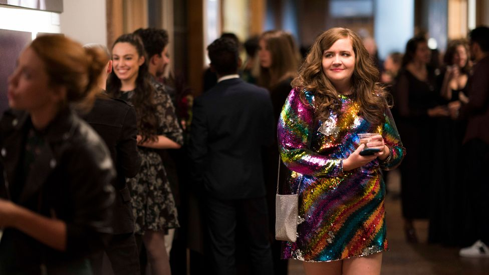 Annie, the plus-size heroine of Shrill, has been given a fashion-forward wardrobe which is radical in its stylishness  (Credit: Hulu)