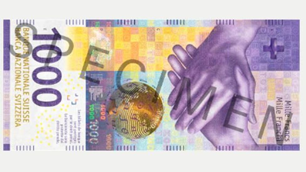 The 1,000-franc note is one of the world's most valuable (Credit: SNB Archive)
