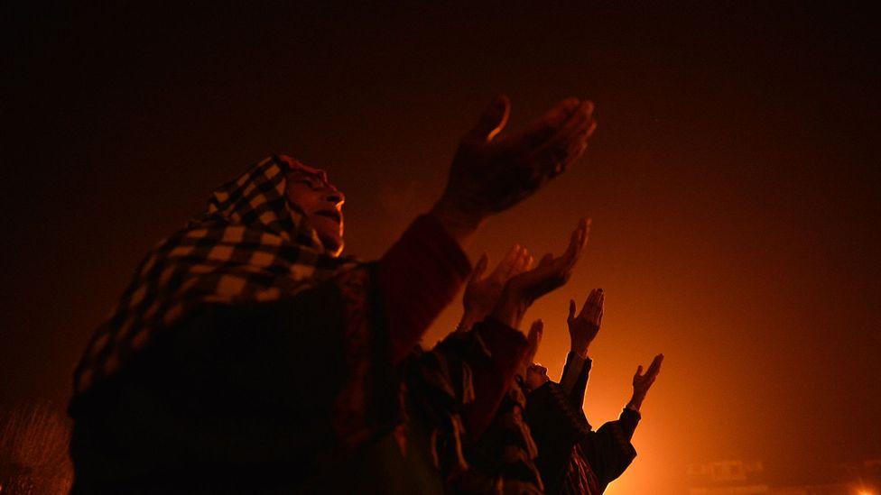 Kashmiri Muslims celebrate Eid-e-Milad-un-Nabi, the anniversary of the Prophet's birth (Credit: Getty)