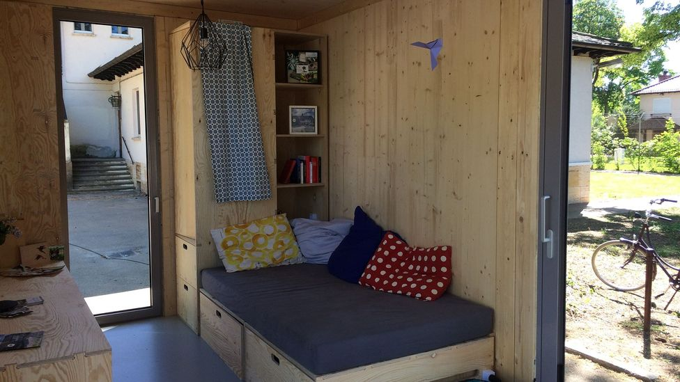 This prototype dorm will be part of a larger complex to be built by Heidelberg students themselves, who are struggling to keep up with rising rents (Credit: Projektgruppe CA)
