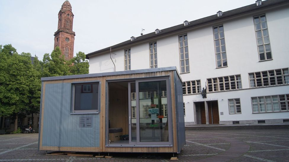 It looks like a garden shed —but this could be the DIY dorm of the future (Credit: Projektgruppe CA)