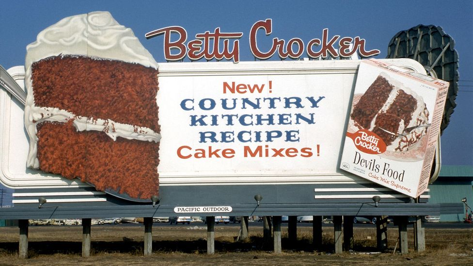 A 1950s-era billboard for Betty Crocker cake mix (Credit: Alamy)