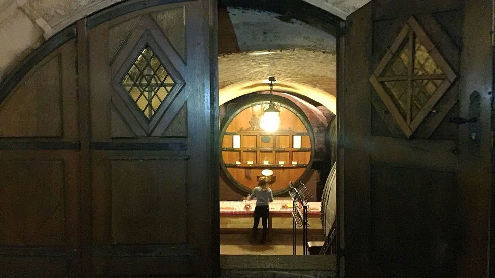 The Cave Historique des Hospices de Strasbourg made and stored wines used for treating ailments in the Hôpital civil (Credit: Melissa Banigan)