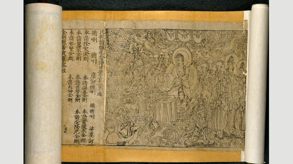 The Diamond Sutra is the world's earliest complete survival of a dated printed book (Credit: British Library Board)