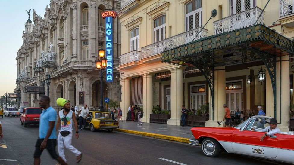 López and his team have restored the iconic Hotel Inglaterra sign and have been commissioned to restore an additional 150 neon signs in Havana (Credit: David Carter)