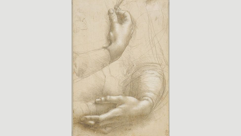 It's possible that this drawing was an early study for Da Vinci's painting A Lady with an Ermine (Cecilia Gallerani)