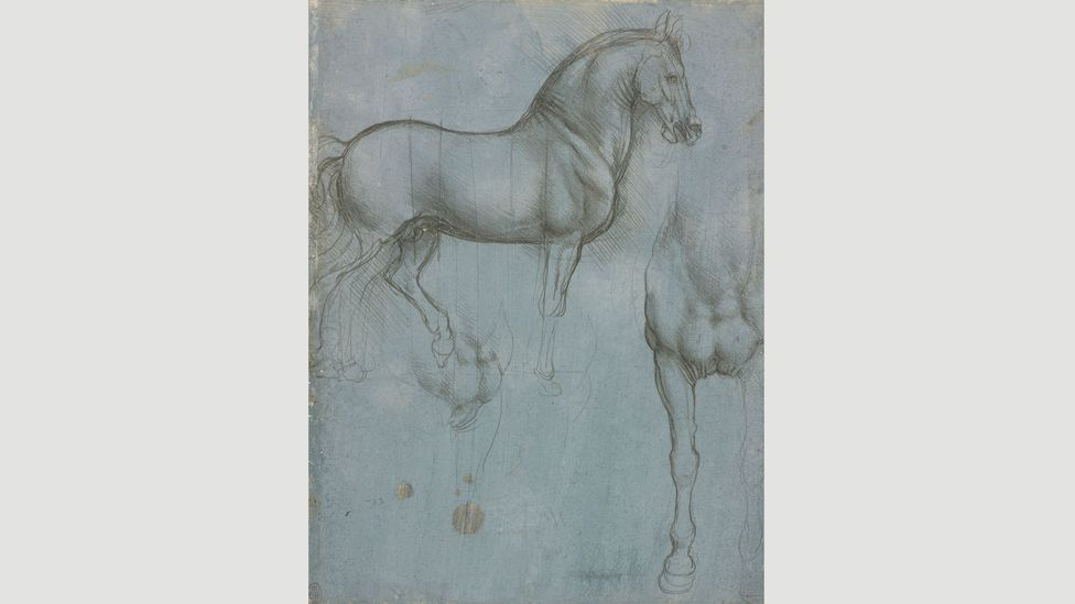 During the 1480s, Ludovico Sforza – ruler of Milan – commissioned Da Vinci to create a bronze equestrian monument that would have been well over life size