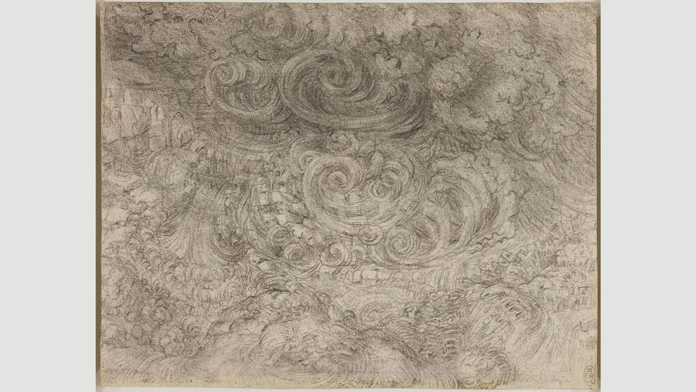 In the last years of his life, Da Vinci was preoccupied with a cataclysmic storm overwhelming the Earth – and the futile struggles of humans against the forces of nature