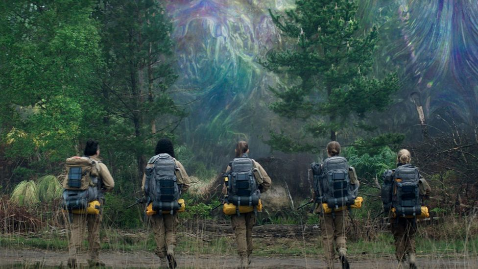 In the movie Annihilation, a mysterious 'shimmer' provokes genetic changes to humans and nature (Credit: Alamy)