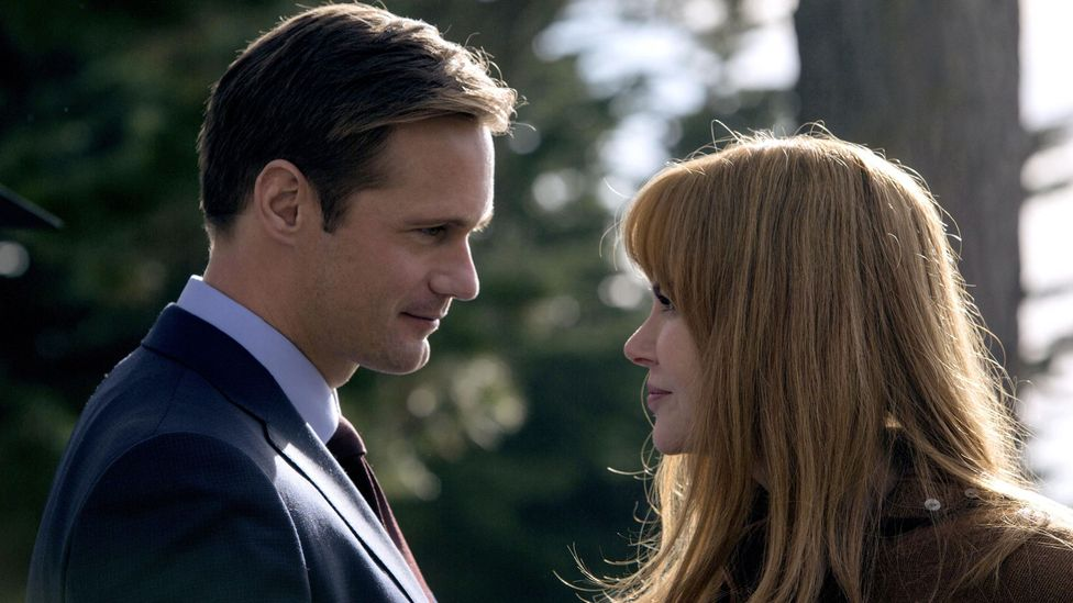 The first season of soapy HBO drama Big Little Lies hinged on a plotline involving a serial abuser played by Scandinavian heartthrob Alexander Skarsgård (Credit: HBO)