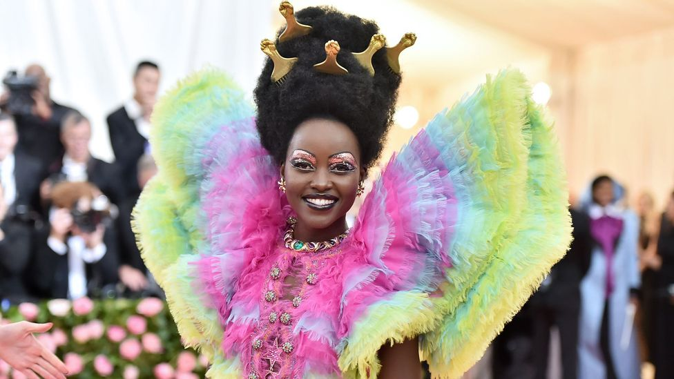 Lupita Nyong'o embraces a camp sensibility in her flamboyant costume for the Met Gala (Credit: Getty Images)