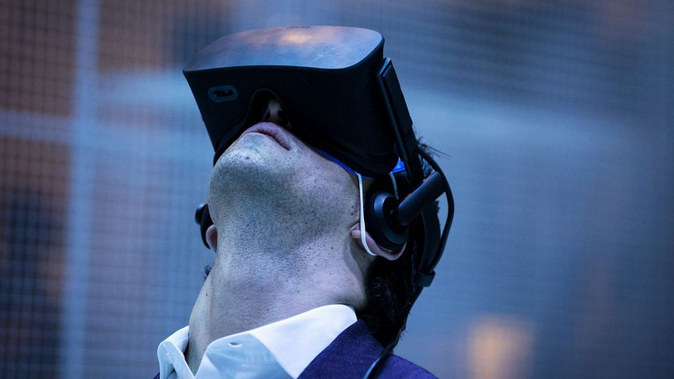 An attendee at the Virtual Reality conference in LA (Credit: Getty Images)