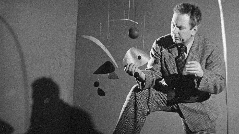 French artist Marcel Duchamp applied the word 'mobile' to a kinetic work by Alexander Calder in 1931 (Credit: BBC)