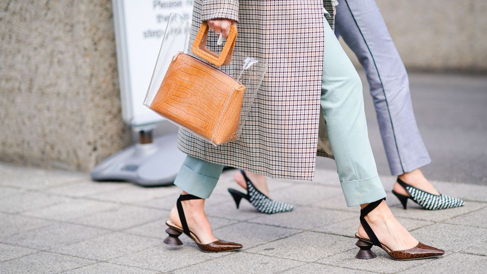 Sculptural heels that are decorative but not restrictively high have been gaining popularity (Credit: Getty Images)