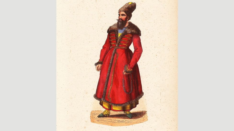 Persian noblemen were among the first to popularise heeled slippers (Credit: Getty Images)