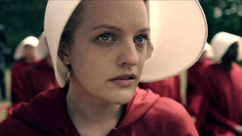 The Handmaid's Tale's portrait of a regressive, woman-hating theocracy has proved too bleak for some viewers, who have labelled it torture porn (Credit: Hulu/Alamy)