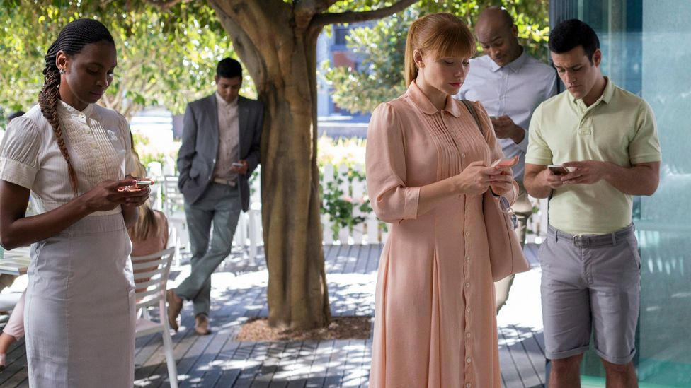 Charlie Brooker's anthology series Black Mirror imagines a near-future chiefly defined by technological development (Credit: Netflix)