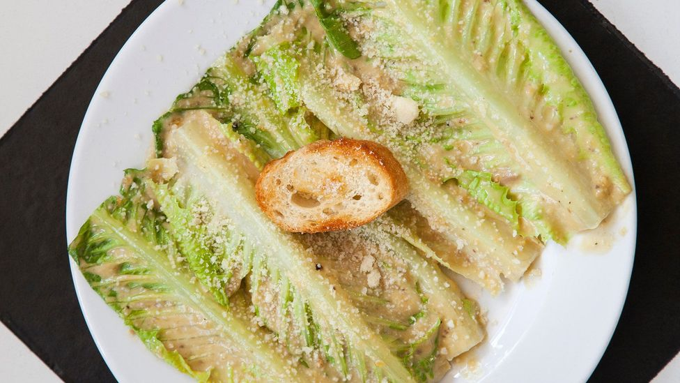 Caesar salad, one of the US's most famous dishes, was invented in Mexico (Credit: Lindsay Lauckner Gundlock/Alamy)