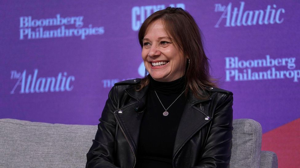 Like many CEOs, the General Motors head wears leather jackets, a one-time symbol of youth rebellion (Credit: Getty Images)