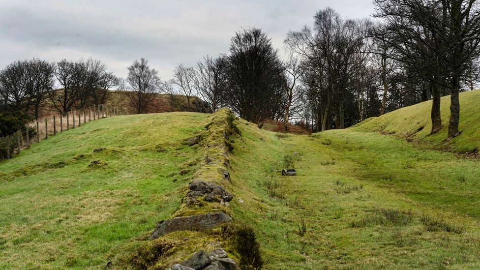 Built around 142 AD, the Antonine Wall once rose as high as 3m and was lined by a defensive ditch as much as 5m deep (Credit: Steven Scott Taylor/Alamy)