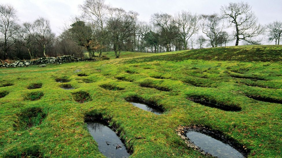 Rough Castle near Falkirk, Scotland, is lauded as the jewel in the crown of the Antonine Wall (Credit: David Lyons/Alamy)