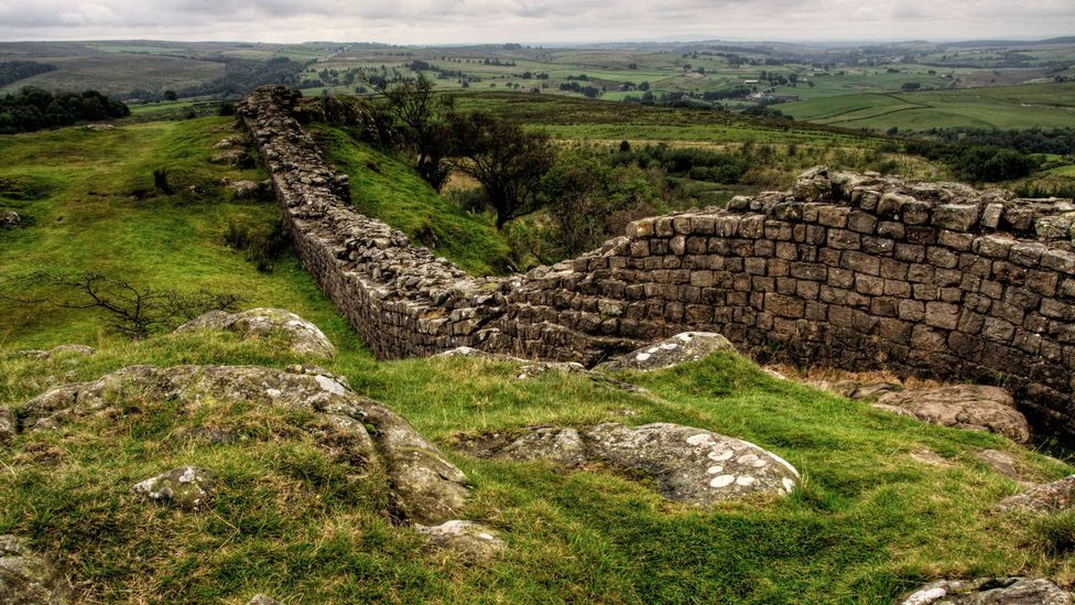 Hadrian's Wall in northern England steals the show when it comes to the frontiers of Roman Britain (Credit: trevor hunter/Alamy)