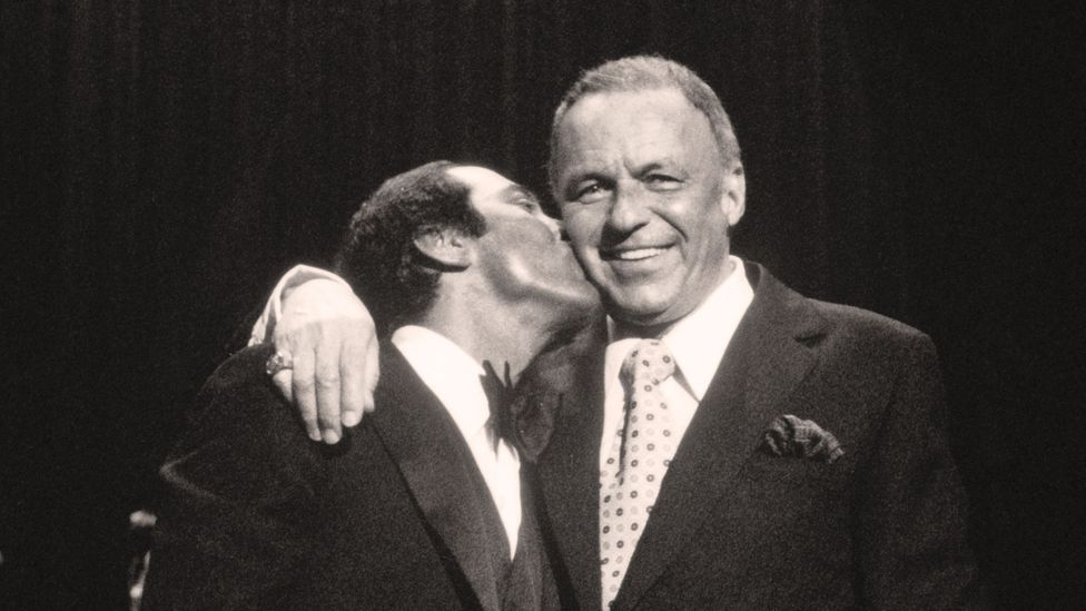 The men behind My Way: Paul Anka (L) and Frank Sinatra (Credit: Getty Images)