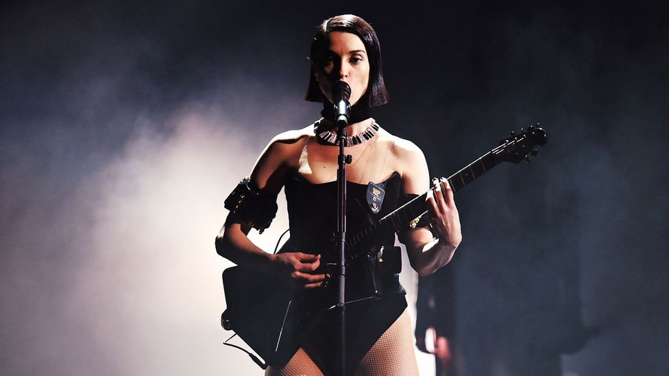 St Vincent at the 2019 Grammys with her signature guitar (Credit: Getty Images)