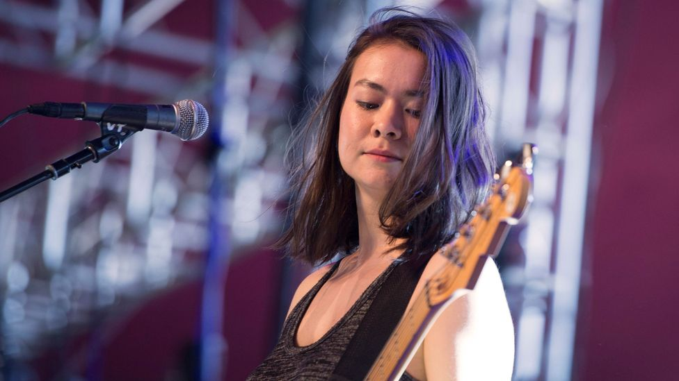 """Mitski describes her cross-cultural identity as """"half Japanese, half American, but not fully either"""" (Credit: Getty Images)"""