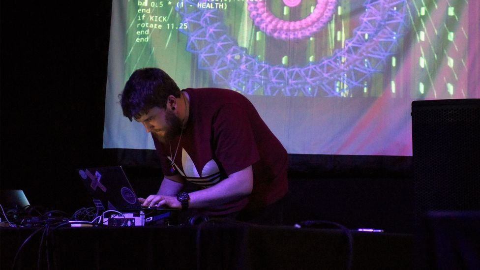 At algoraves – such as this one at the 2019 SXSW festival – DJs hack code live onstage (Credit: Getty Images for SXSW)