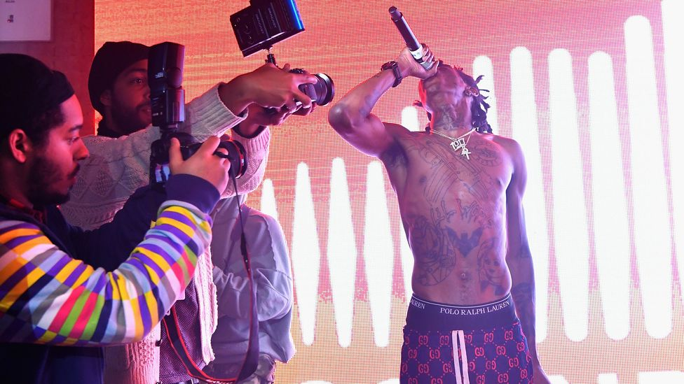 Platforms now feature millions of tracks by musicians, including Lil Wop, pictured performing for Soundcloud in 2017 (Credit: Getty Images)