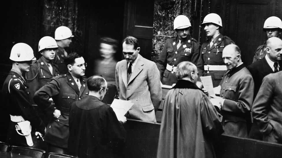 For much of his trial, the Nazi war criminal Rudolf Hess claimed he had amnesia, but later admitted that this was a ruse (Credit: Getty Images)