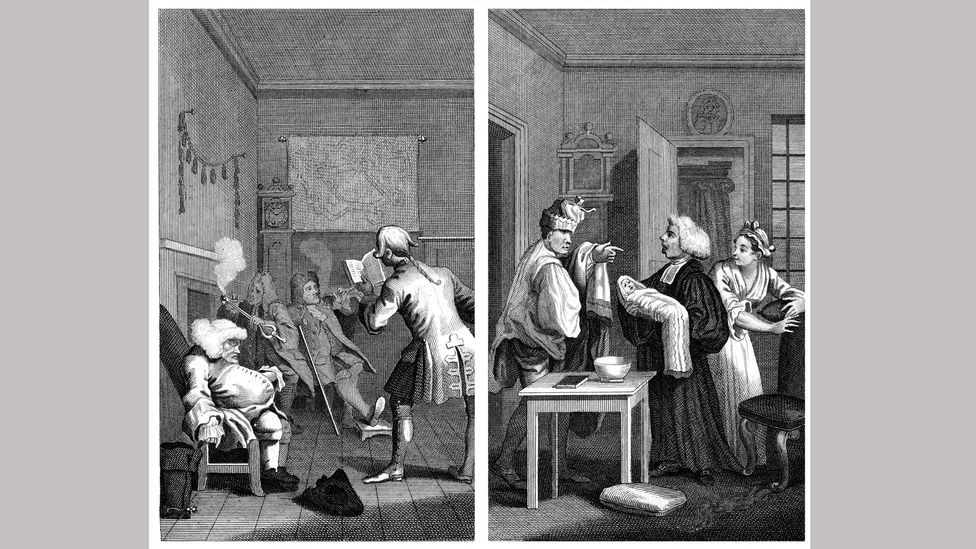 William Hogarth's illustrations for Tristram Shandy depict the offbeat humour of the book (Credit: Alamy)