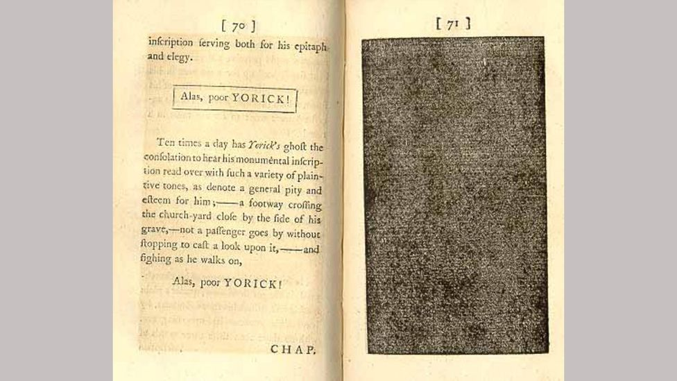 Tristram Shandy was hugely experimental, and included visual tricks (Credit: Alamy)