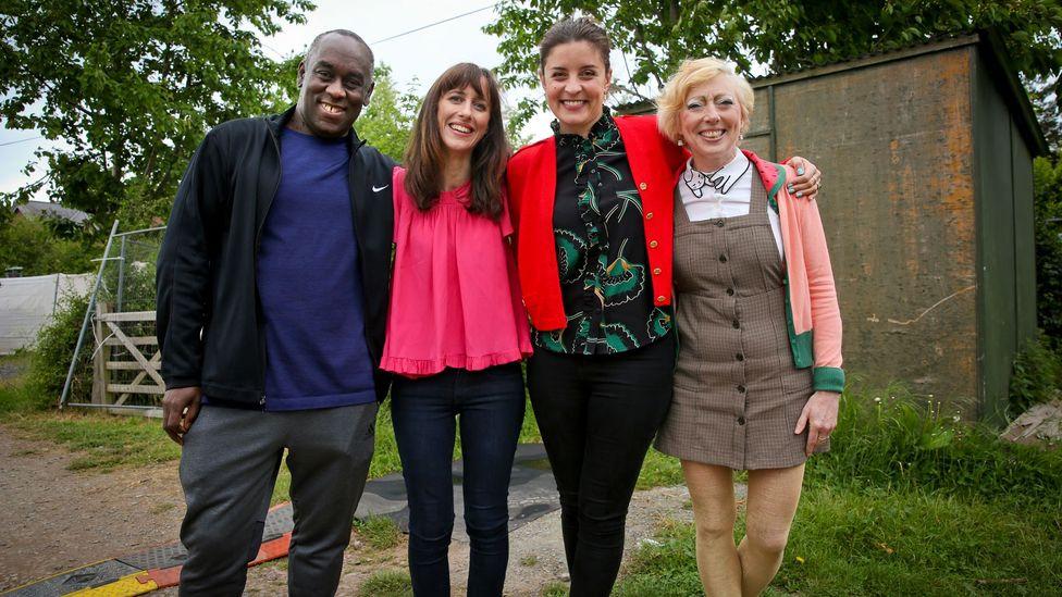 BBC Culture's literature writer Hephzibah Anderson, and panellists Ella Berthoud, Jessie Burton and Alex Wheatle, were appearing at the Hay literature festival (Credit: BBC)