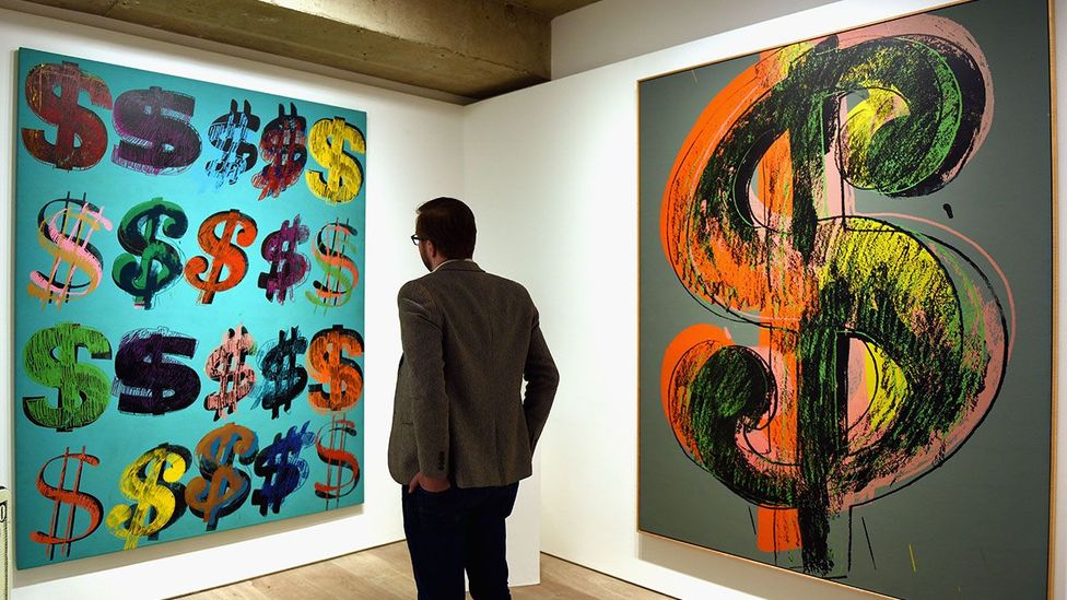 """Artist Andy Warhol reportedly said of his work """"American money is very well designed, really, I like it better than any other kind of money."""" (Credit: Getty Images)"""
