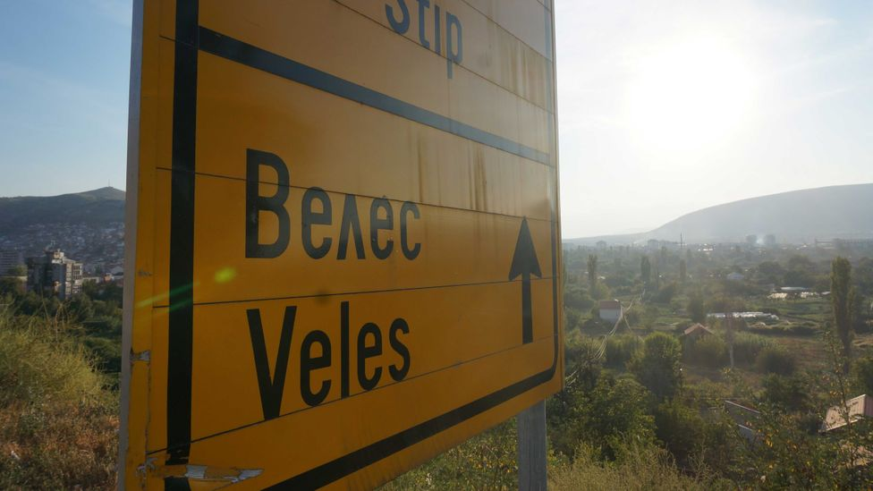 The activity in Veles has brought the attention of the world's media (Credit: Robin Willows-Rough)