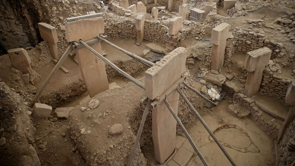 At around 10,000 years old, Gobekli Tepe in Turkey is the world's oldest temple site. The emergence of farming at this time heralded new forms of religion (Credit: Getty Images)