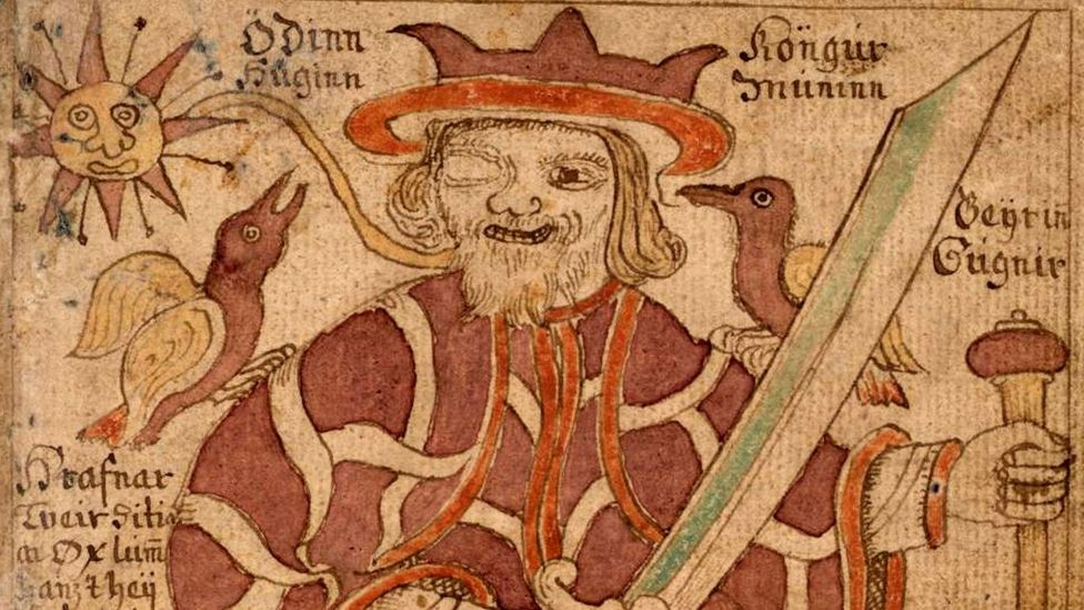 The Ásatrú faith celebrates Old Norse mythology and its pantheon of morally ambiguous deities such as Odin (pictured), Thor and Loki (Credit: The Picture Art Collection/Alamy)