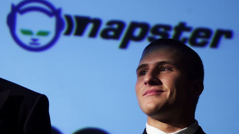 Shawn Fanning became the poster boy for online music sharing after creating Napster as a teenager (Credit: Getty Images)