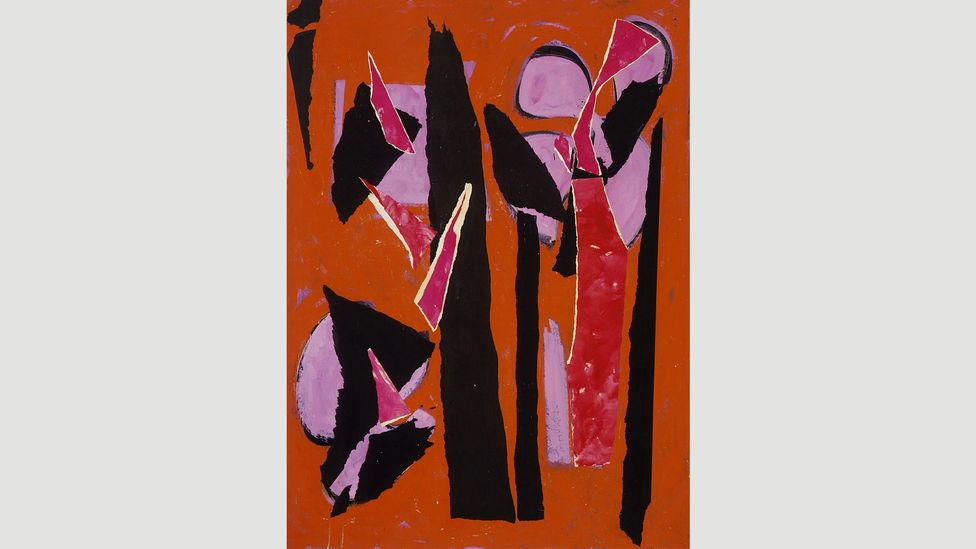 Works such as Desert Moon, 1955 stand out for Krasner's inventive use of colour (Credit: The Pollock-Krasner Foundation)