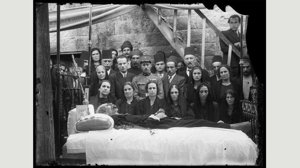 Funeral, 1920s, by Camille El-Kareh (Credit: Mohsen Yammine collection, courtesy of the Arab Image Foundation)