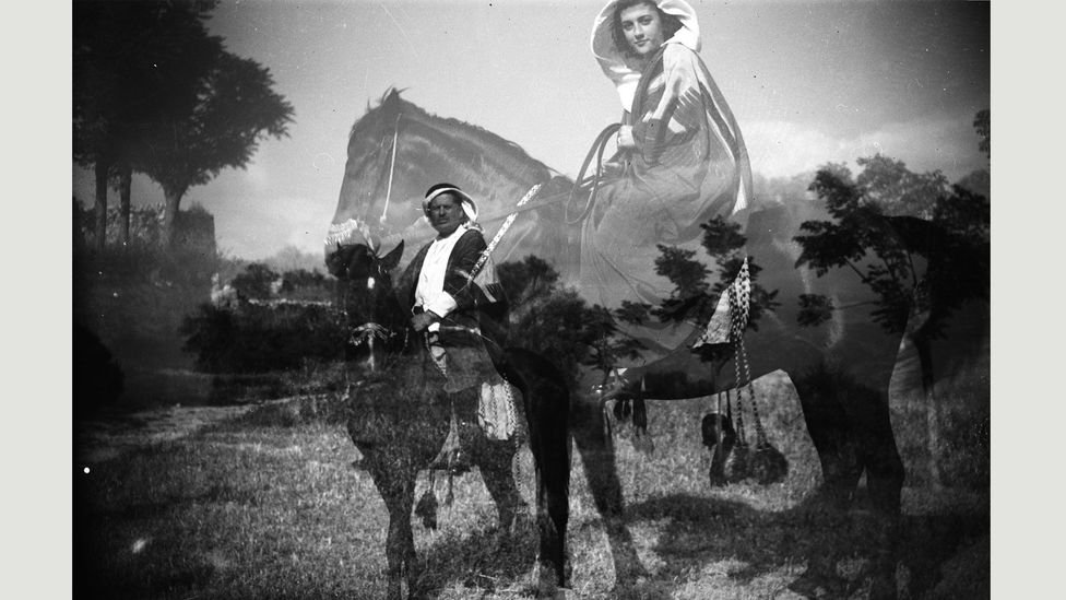 1924 image by Marie El-Khazen (Credit: Mohsen Yammine collection, courtesy of the Arab Image Foundation)