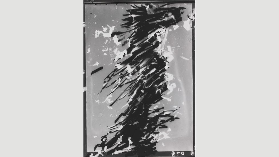 In the 1980s, Maar returned to the darkroom to create a series of photograms, like Sans titre, 1980 (Credit: Collection Centre Pompidou, Paris)