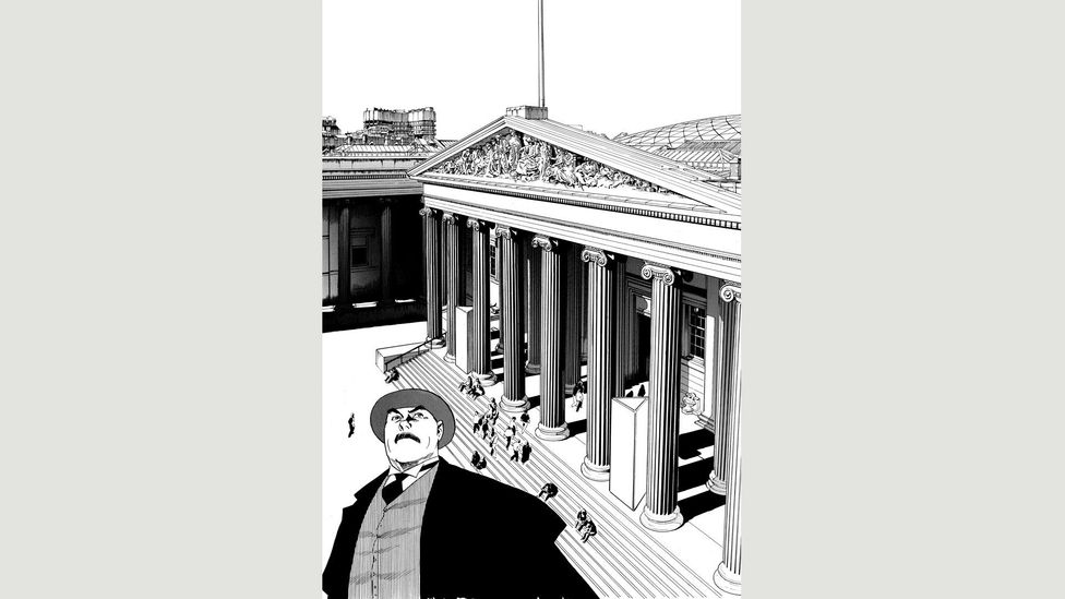 In Professor Munakata's British Museum Adventure, a folklore expert squares off against thieves who are targeting precious artefacts (Credit: Yukinobu Hoshino, Shogakukan Inc)